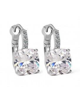 Luxurious Cushion-cut Drop Earrings 4ct