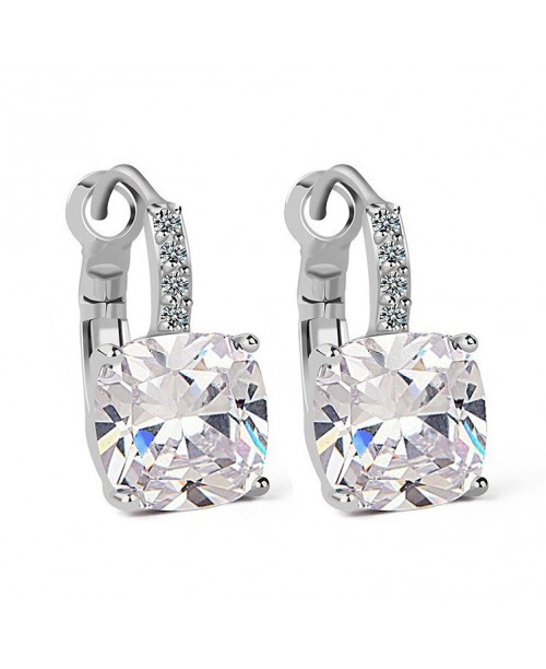 Luxurious Cushion-cut Drop Earrings 4ct