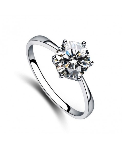 Six-prong Classic Solitaire Ring 1ct
