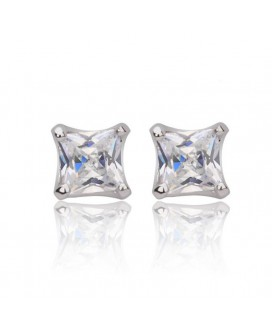 Princess Cut Stud Earrings 0.63ct