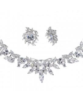 Eternal Spark Crystal Necklace & Earrings Set