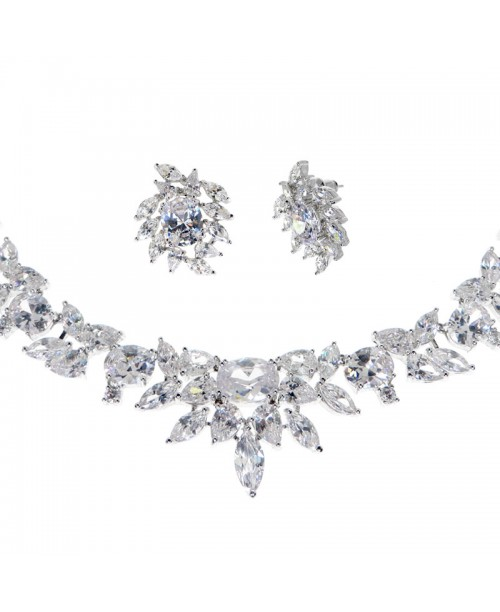 Eternal Spark Crystal Necklace & Earrings Set