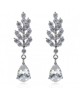 Branching Stars Cubic Zirconia Earrings