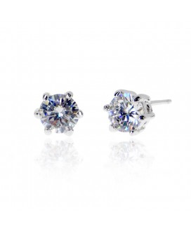 Six-prong Sparkler Stud Earrings 0.5ct