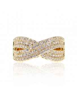 Infinity Wave Paved Band Ring
