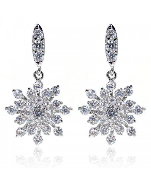 Magnificent Snowflake Drop Earrings