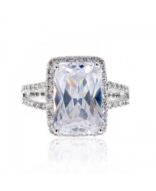 Diva Emerald Cut Ring