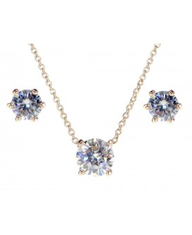 Olivia Solitaire Crystal Necklace