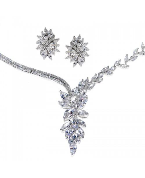 Asymmetric Roman Goddess Necklace & Earrings Set