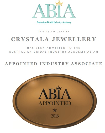Crystala Jewellery is an accredited ABIA associate