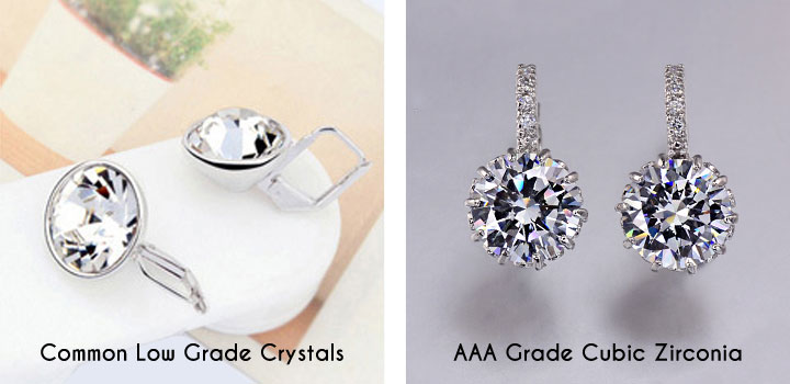 comparison between cubic zirconia and other crystals